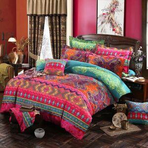 Retro Bohemia Duvet Cover Sets Soft Bedding Set Pillow Sham Twin Full Queen King