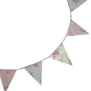 Mixed Floral Bunting - Pink, Blue & White - Powell Craft - 5m