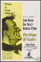 The Wings of eagles John Wayne  movie poster print