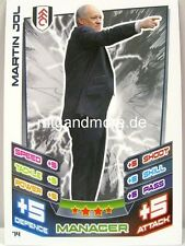Match Attax 2012/13 Premier League - #074 Martin Jol - Fulham