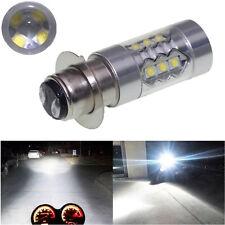 1X12V Xenon White P15D-1/H6M 80W High Power Motorcycle Headlight LED Light Bulbs