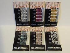 84 Pcs Acrylic Nail Art Stickers Wraps Decals Manicure Ast Styles Leopard 6 Sets