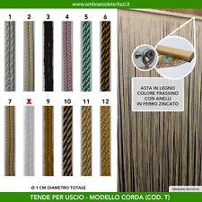 Tenda a fili corda in cotone uscio porta finestra moschiera antimosche insetti