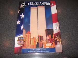 God Bless America Puzzle 911 World Trade Center Remembrance 550 Piece Sealed New