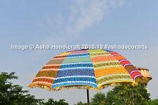 Hippie Indian Multi Color Rangoli Garden Umbrella Large Wedding Parasols Decor