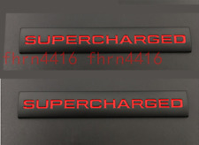 2x Metal Supercharged Black&Red Emblem Sticker Badge Land Rover Stickers Sport