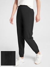 ATHLETA Textured Brooklyn Jogger 4P 4 PETITE Black  Travel or Work Pants NWT