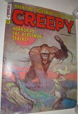 Rare Creepy #11 original vintage promo poster by Frank Frazetta 1972 King Kong