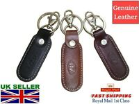 Leather Keyring Fob Black Brown Burgundy Navy Blue Fast Delivery UK Seller