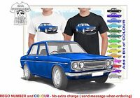 CLASSIC 1969 DATSUN 1600 SEDAN ILLUSTRATED T-SHIRT MUSCLE RETRO SPORTS CAR