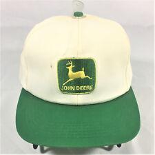 Vintage John Deere K Products Patch Trucker White Green Hat Cap Snapback