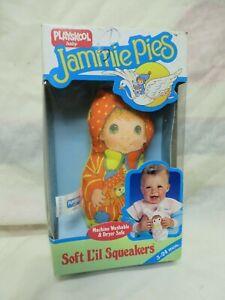 VINTAGE 1986 PLAYSKOOL JAMMIE PIE SOFT SQUEAKER DOLL BABY 5255 NEW BOX HALLMARK