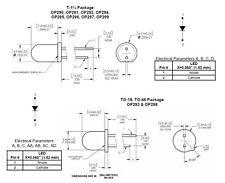 IR-DIODO INFRAROSSI Diodo IR-LED op292a 5mm 890nm 2-pin t-1 3/4