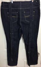 ec1b62d254e Crave Fame Almost Famous Plus Sz 20 Dark Wash Jeans Suspender Denim Overall  Pant