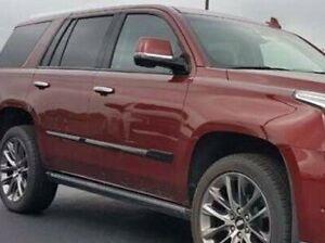 GM OEM Cadillac Escalade ESV Black Chrome Side Molding & Window 14 Pc. Trim Kit