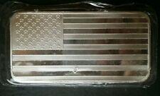 10oz Silver Flag Bar in Plastic