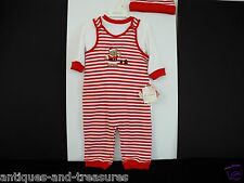 First Impressions Christmas Baby  Long Sleeve  2  Piece Stripe Outfit 12 Months