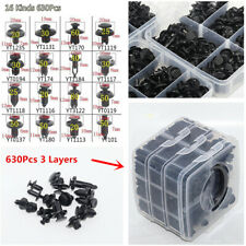 630Pcs 3 Layers Plastics Fasteners Set Repair Parts Clip For Car Fender Bumper
