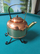 Copper Guild Taunton Ma Kettle On Stand With Burner, Not Used [*Met2]