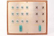 Custom Headphone/Video Patch Bay Panel 12x 4-Pin XLRF / 2x ELCO / 6x SO-239 #13