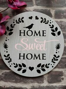Home sweet home Decor Sign wooden Comes with wall hangers