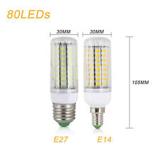 High Power E14 E27 LED Corn Bulb Lamp Warm White Light 7W-25W 5730SMD 110V 220V