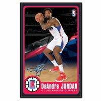 """NBA Los Angeles Clippers DeAndre Jordan Wood Sign with Beveled Edge, 11"""" x 17"""""""