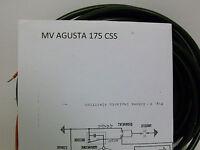 IMPIANTO ELETTRICO ELECTRICAL WIRING MOTO MV AGUSTA 175 CSS CON SCHEMA ELETTRICO