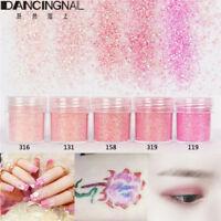 5 Pot/Set Pink Glitter Eye Shadow Chunky Holographic Nail Art Face Body Paint