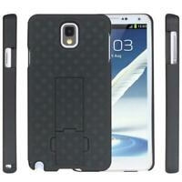 HARD SHELL COMBO CASE SHOCK-PROOF CARRYING HOLSTER SWIVEL L2U for Galaxy Note 3