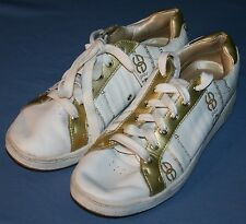 Marc Ecko Red Sneakers Athletic Shoes Sz 9 White / Gold Gramercy Cabrini