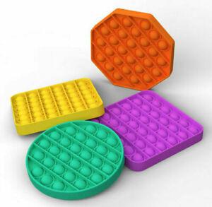 3Pcs Push Pop Bubble Sensory Fidget Toy Autism Stress Relief Silent Classroom