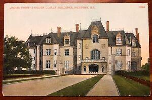Ochre Point J Ogden Goelet Residence Newport RI Rhode Island litho