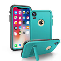 For iPhone Xs Max XR IP68 Waterproof Case Shockproof Cover with Screen Protector