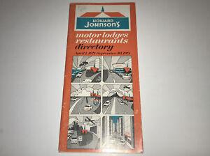 Vintage Howard Johnson's Motor Lodges Restaurants 1971 Directory