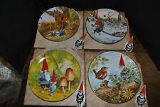 Rien Poortvliet Gnomes Four Seasons Plates In Original Boxes Set Of 4 1982