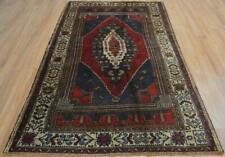 4'4 x 7'7 Vintage Turkish Handmade Oriental Nomad Natural Dyes Wool Area Rug 5x8