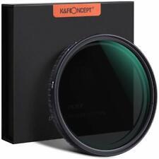 K&F Concept  Slim 77mm  Fader Variable Neutral Density Filter ND2-ND32 NO X Spot