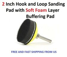 2 Inch Hook and Loop Sanding Pad with Soft Foam Layer Buffering Pad