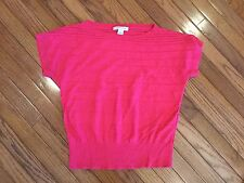 August Silk Pink top Blouse Size L