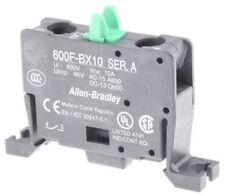 Allen Bradley AB 800F-BX10 SER.A 1NO CONTACT BLOCK BASE MOUNT10A 690VAC 800FBX10