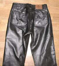 Homme jeans en cuir bordeaux Pantalon en cuir NEUF Pantalon Lederjeans Bordeaux