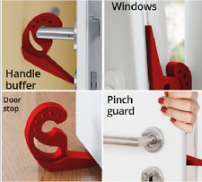 MULTI STOP * DOOR STOPPER PINCH GUARD HANDLE BUFFER TITLED WINDOWS WEDGE JAMMER