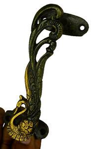 Peacock Shape Antique Style Handmade Brass Door Handle Drawer Pull Knob O161