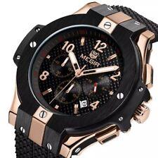 Megir Men's Chronograph Silicone Watch Military Luminous Wristwatch Gift