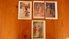 Vintage old Princess children's book small print beautiful old pictures to frame