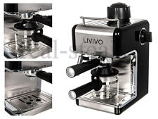 BLACK PROFESSIONAL ELECTRIC ESPRESSO CAPPUCCINO COFFEE MAKER MACHINE HOME OFFICE