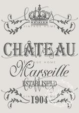 A4 STENCIL Chateau Marseille Furniture Vintage Shabby Chic ❤ FRENCH 190 MYLAR