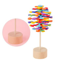 1pc Rotating Lollipop Toy Cute Cute Wooden Revolving Toy for Outdoor Office Home