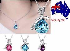 Charm Rhinestone Chain Crystal Teardrop Necklace Pendant Women's Accessories